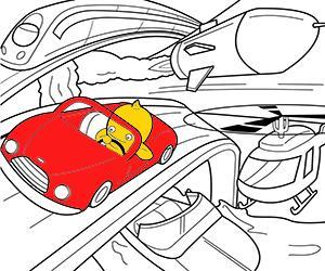 desenhos de Transportes para colorir e imprimir