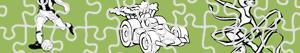 desenhos de Puzzles de Desporto e Aventura para colorir
