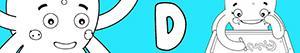 desenhos de Nomes de Menina com D para colorir