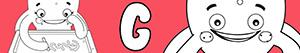 desenhos de Nomes de Menina com G para colorir