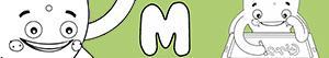 desenhos de Nomes de Menino com M para colorir
