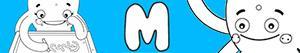 desenhos de Nomes de Menina com M para colorir