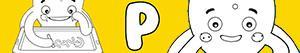 desenhos de Nomes de Menino com P para colorir