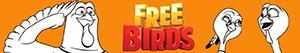 desenhos de Bons de Bico. Free Birds para colorir
