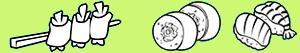 desenhos de Comida japonesa para colorir