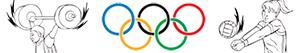 desenhos de Esportes olímpicos. Diversos para colorir